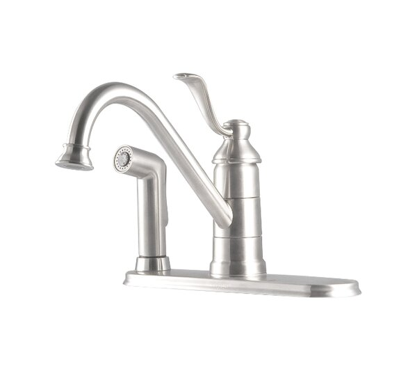 Portland Single Handle Deck Mounted Kitchen Faucet with Deck Plate and Single Post Mounting Ring by Pfister Pfister