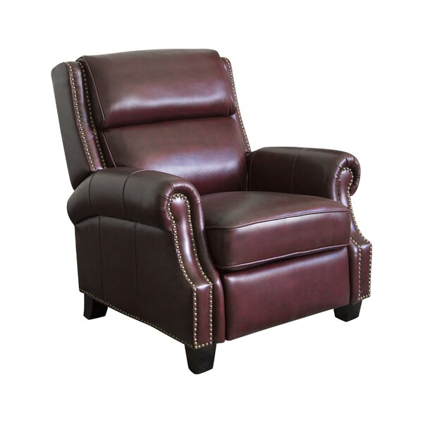 Shayla Leather Manual Recliner by Longshore Tides