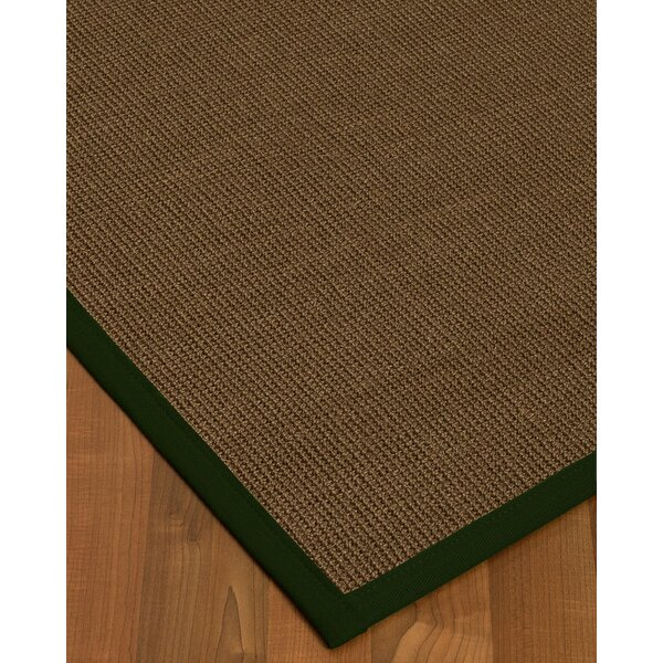 Kerner Border Hand-Woven Brown/Moss Area Rug by Bayou Breeze