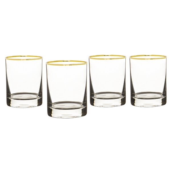 Bletsoe Rim Whiskey 11 oz. Glass Cocktail Glasses (Set of 4) by Mercer41