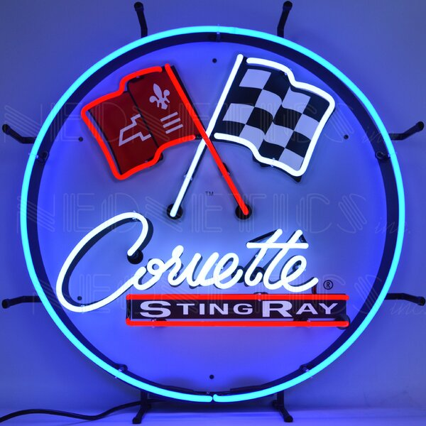 Corvette C2 Stingray Round with Backing Wall Light by Neonetics