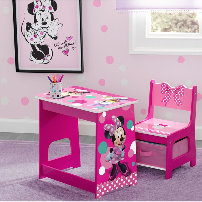 Groovy Disney Minnie Mouse Kids 2 Piece Activity Table And Chair Set Caraccident5 Cool Chair Designs And Ideas Caraccident5Info