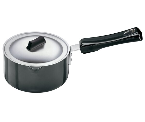 Hard Anodised Saucepan with Steel Lid by Futura