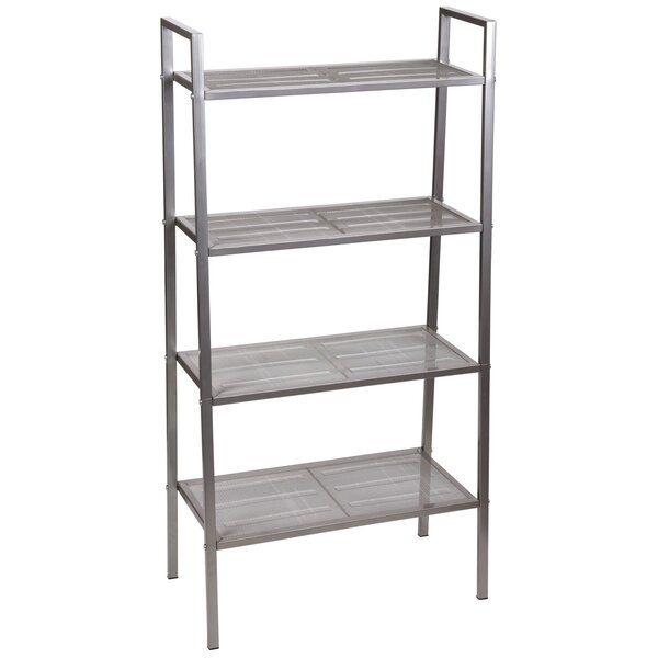 Free-Standing Four Shelf Etagere Bookcase by Household Essentials