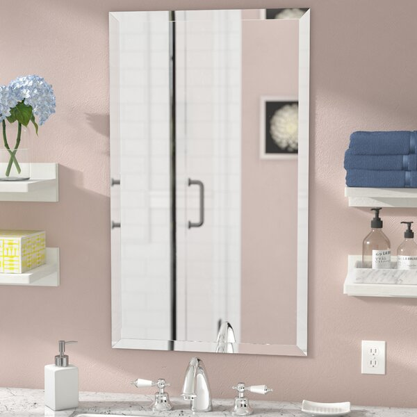 Corrinne Frameless Beveled Rectangular Wall Mirror by Latitude Run