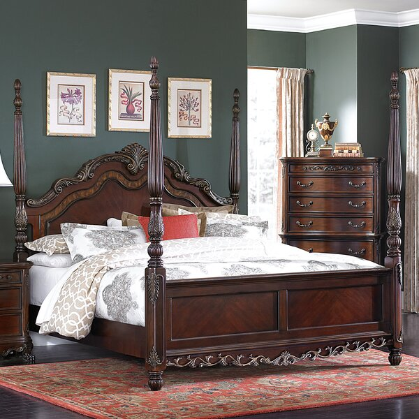 Chalus Four Poster Bed by Astoria Grand