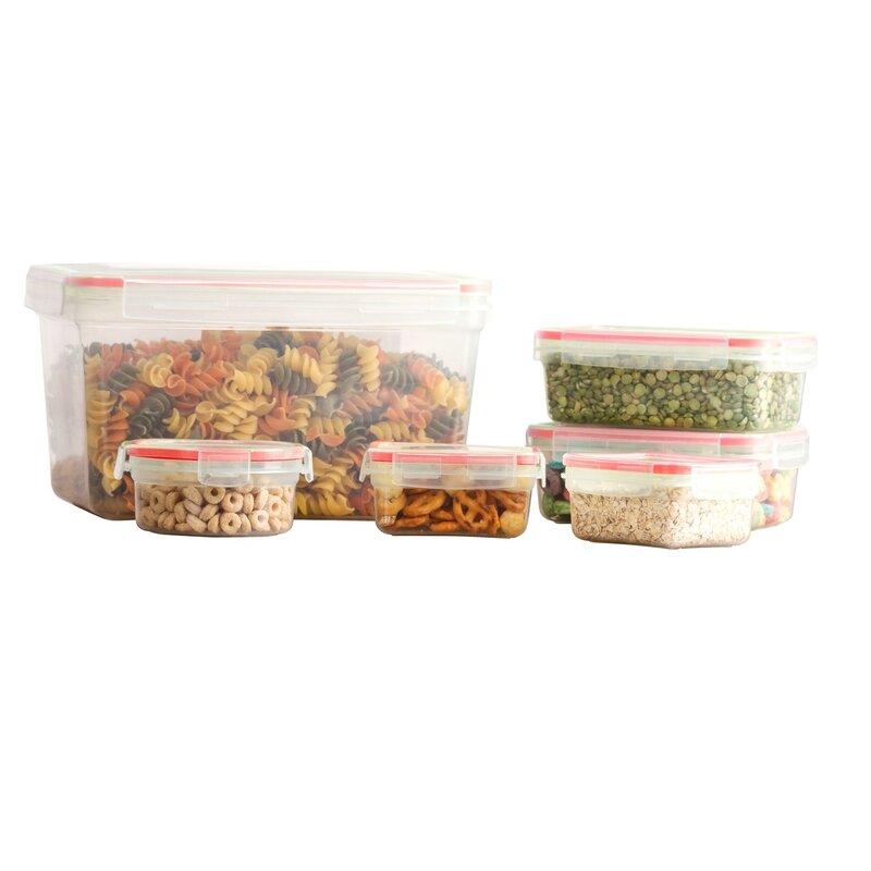 Rebrilliant Koeppe BPA Free Plastic 12 Container Food Storage Set