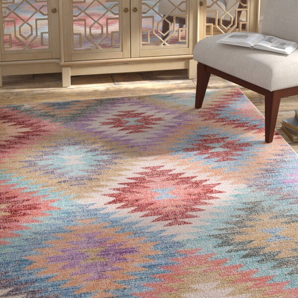 Keys Blue/Red Area Rug by Bungalow Rose