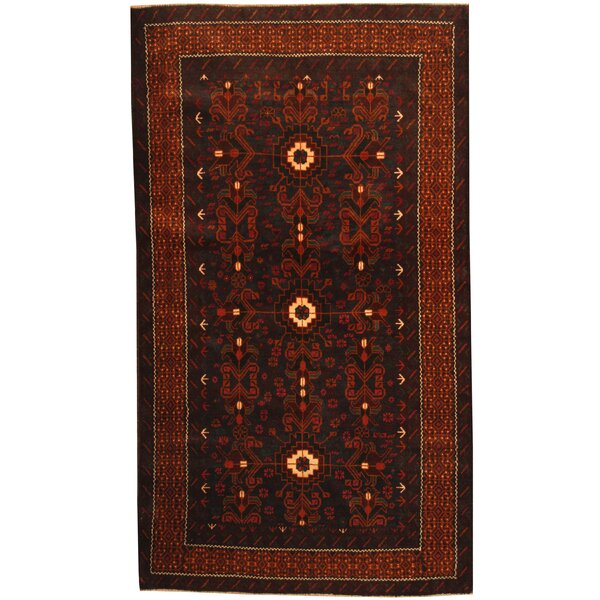 Prentice Hand-Knotted Navy/Brown Area Rug by Isabelline