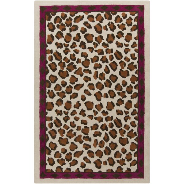 Mario Hand-Tufted Chocolate Area Rug by Bloomsbury Market