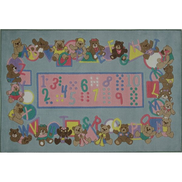 Supreme Teddies and Letters Grey Area Rug by Fun Rugs