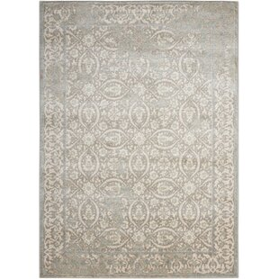 Coupon Angelique Gray and Ivory Area Rug ByLark Manor