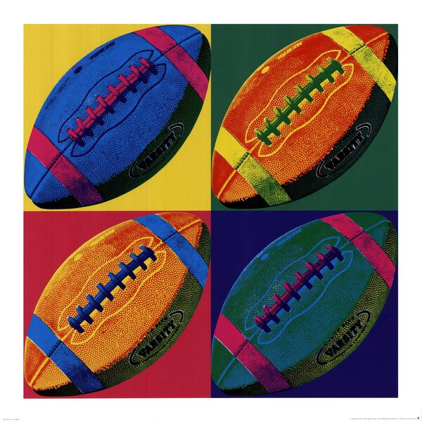 Ball Four Football Paper Print by Evive Designs