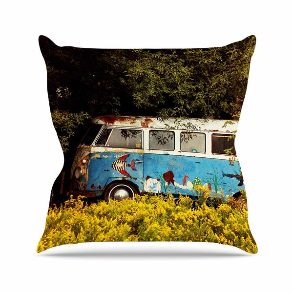Angie Turner Hippie Bus Outdoor Throw Pillow by East Urban Home