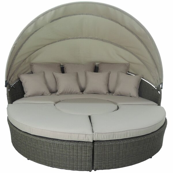 Haven 4 Piece Modular Round Canopy Daybed Set by Brayden Studio