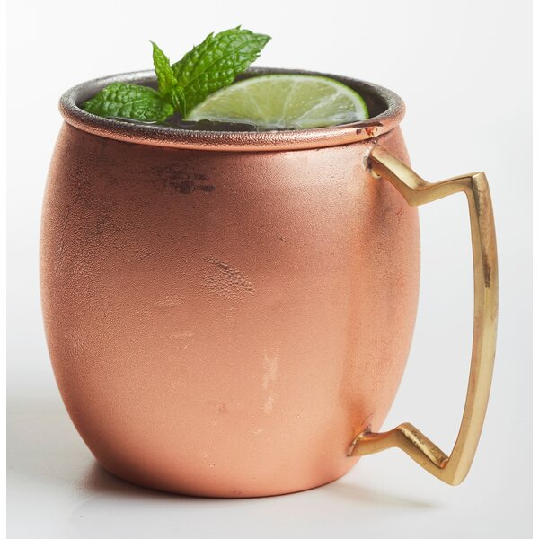 Stainless Steel Belly Shape 20 oz. Moscow Mule Mug (Set of 2) by Brilliant