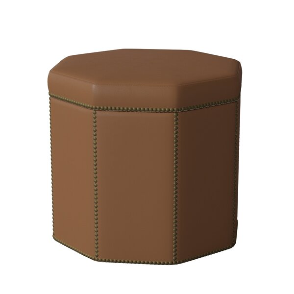 Dolly Leather Ottoman by Bernhardt
