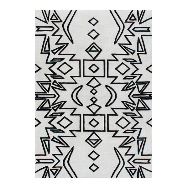 Abbie Hand-Woven Black Area Rug by Union Rustic