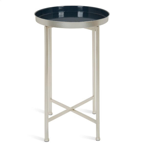 Kriebel Foldable Tray End Table by Bungalow Rose