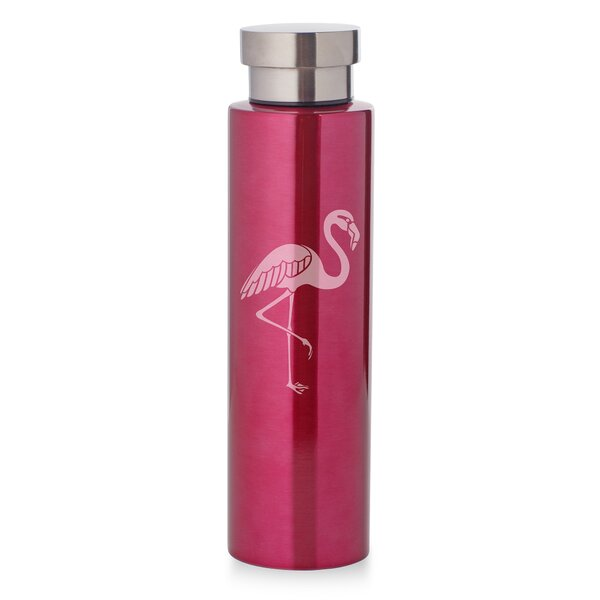 Crow Flamingo 17 oz. Stainless Steel Water Bottle by Ebern Designs