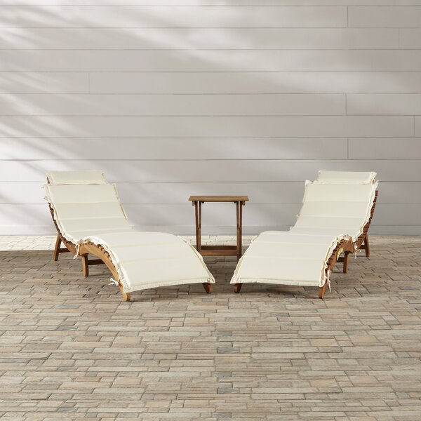 Alois Chaise Lounge Set With Cushion And Table By Sol 72 Outdoor