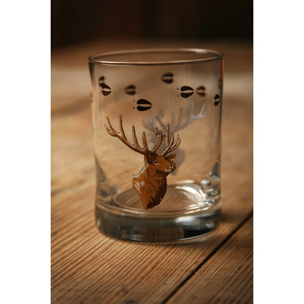 Fabian Cabin Lodge Double Wildlife Old Fashioned Glass (Set of 4) by Loon Peak