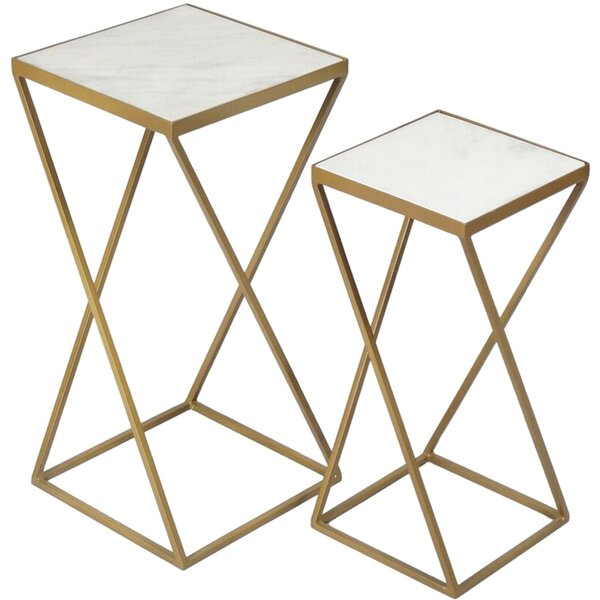 Lecuyer 2 Piece Nesting Tables by Everly Quinn Everly Quinn