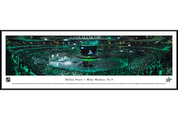 NHL Dallas Stars - Mike Modano by James Blakeway Framed Photographic Print by Blakeway Worldwide Panoramas, Inc