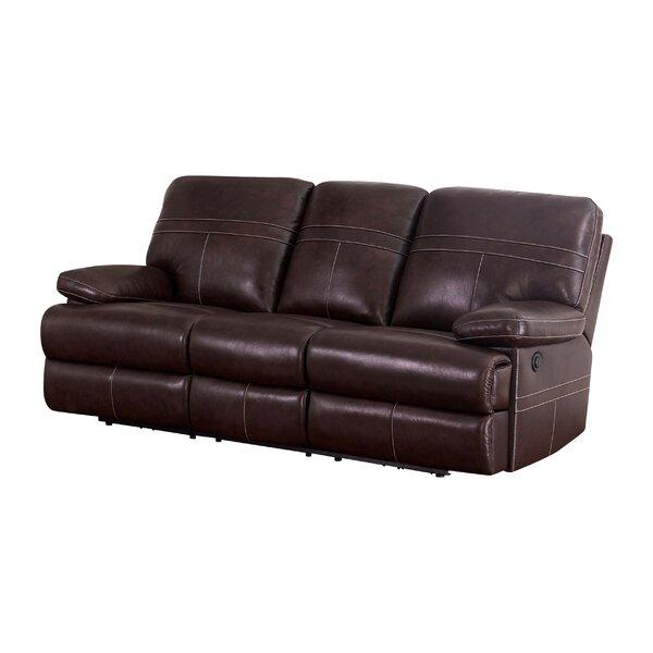 Koehn Leather Reclining Sofa by Red Barrel Studio