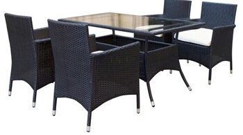 Mulberry 5 Piece Dining Set with Cushion by Manhattan Comfort