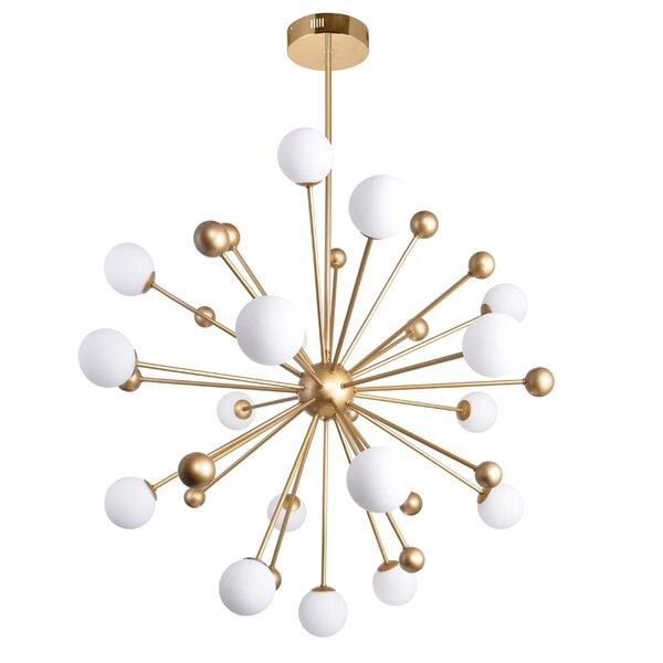 Element 17 - Light LED Sputnik Sphere Chandelier By CWI Lighting