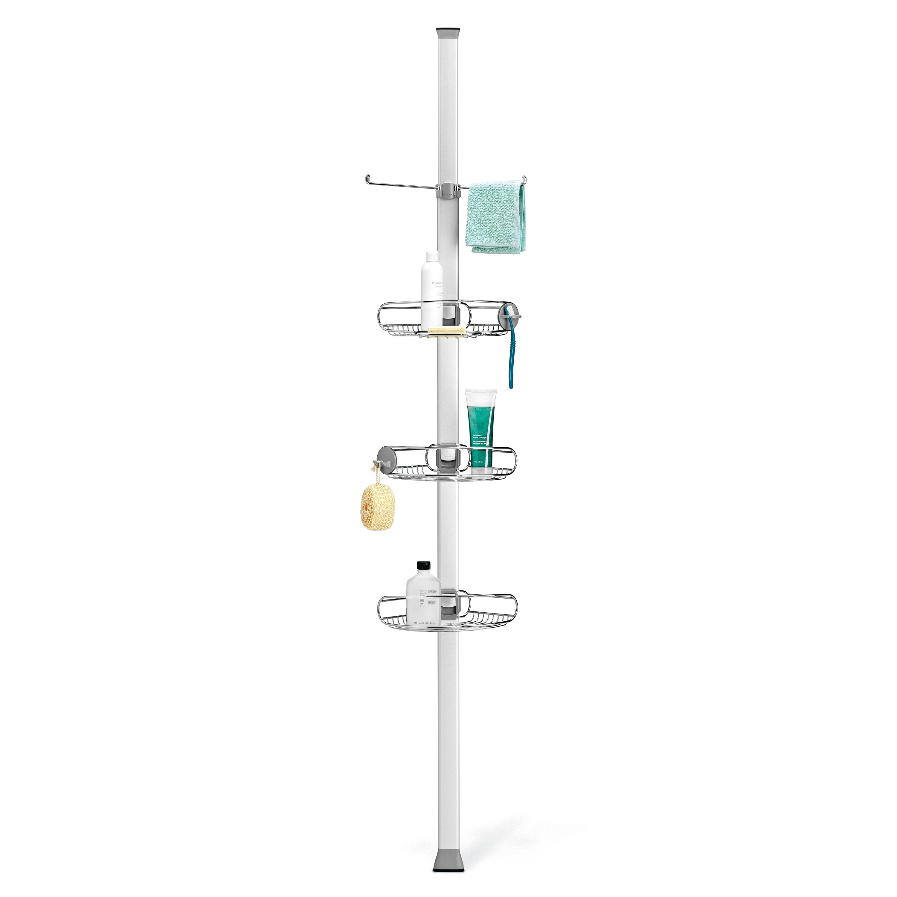 simplehuman Tension Shower Caddy, Stainless Steel + Anodized ...