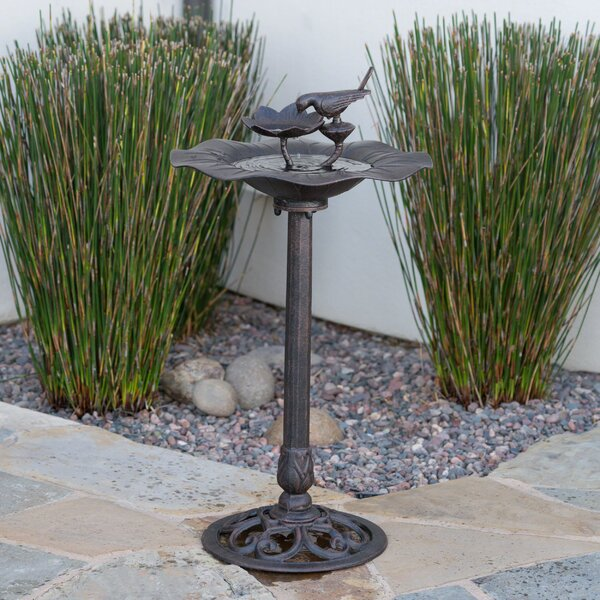 Upstream Outdoor Aluminum Birdbath by Fleur De Lis Living