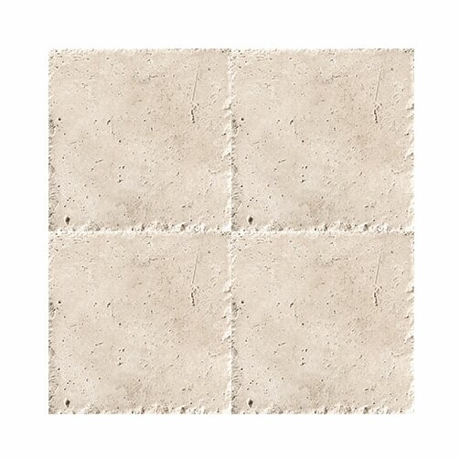 Chiseled 6 x 6 Travertine Field Tile in Ivory by Parvatile