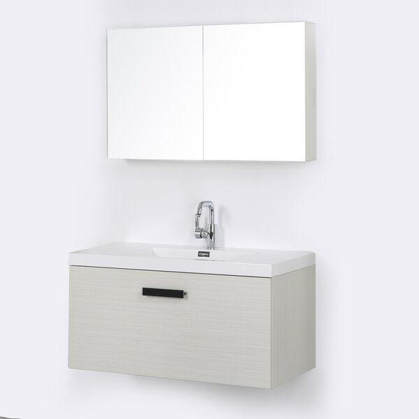 39 Wall-Mounted Single Bathroom Vanity Set with Mirror by Streamline Bath