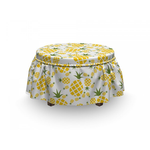 Organic Fruits Ottoman Slipcover (Set Of 2) By East Urban Home