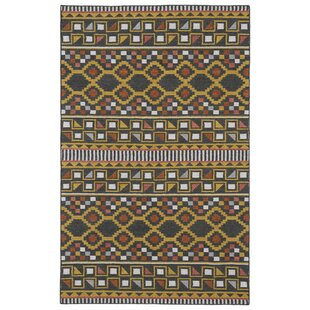 Compare Marble Falls Charcoal Geometric Area Rug ByWrought Studio