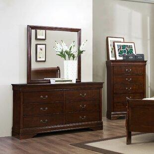 Mayville 6 Drawer Double Dresser with Mirror