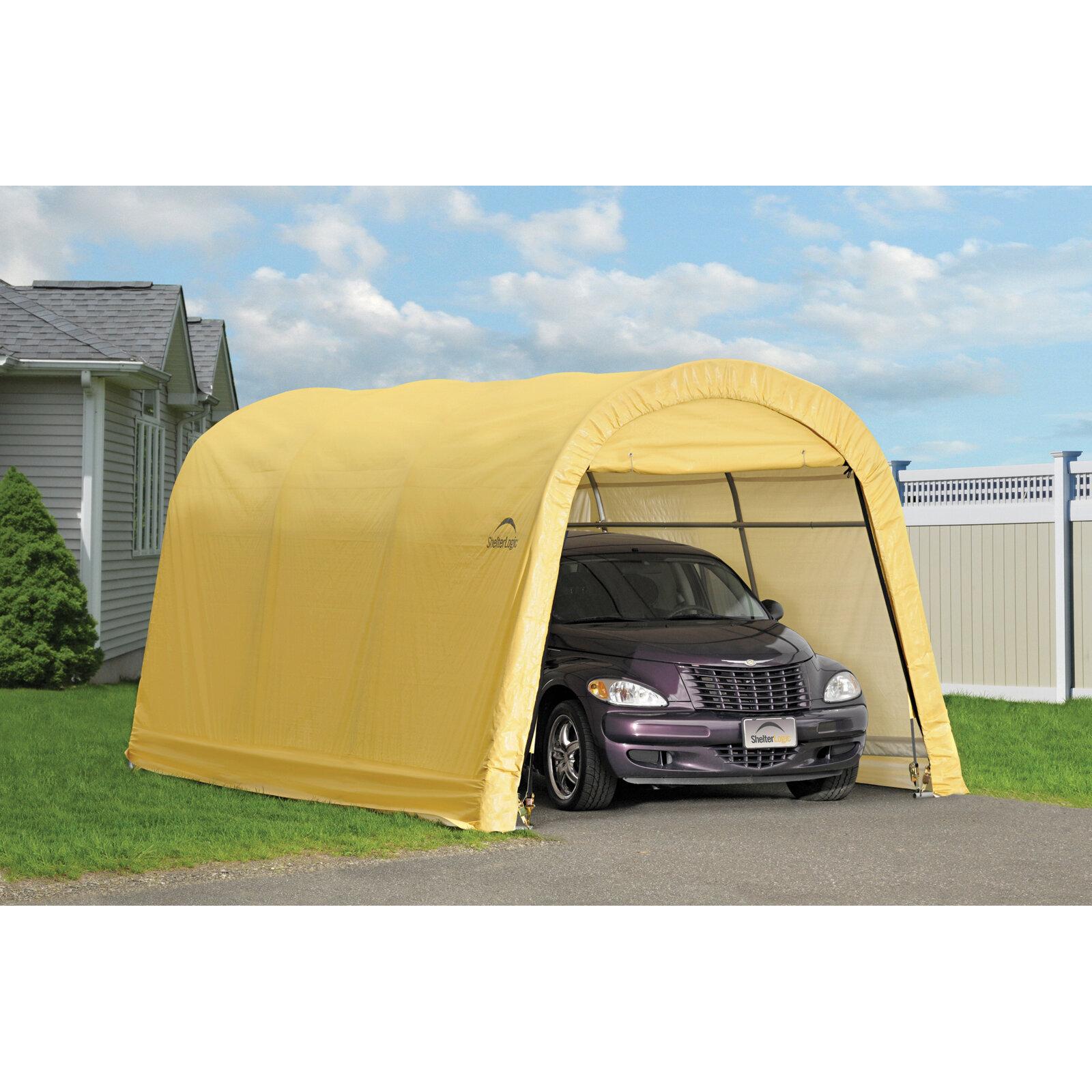 in a and removable fp shelterlogic garage box car polyethylene frame print demontable promo x m steel