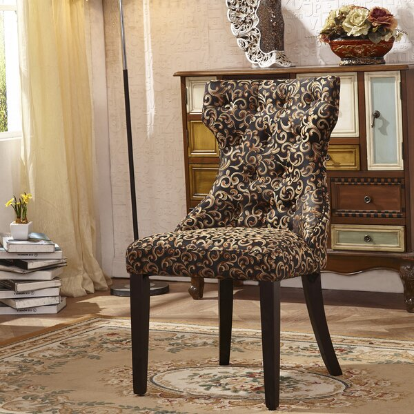 Traditional Upholstered Dining Chair (Set of 2) by Corzano Designs