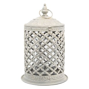 Coupon Metal and Glass Lantern By Serene Spaces Living