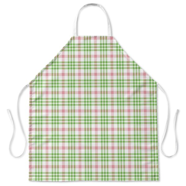 Candy Cane Plaid Apron by Red Barrel Studio