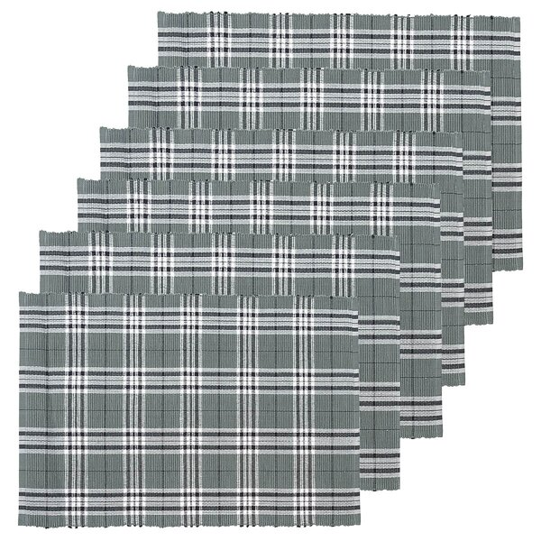 Dierks Plaid Placemat (Set of 6) by Charlton Home