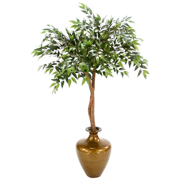Silk Ruscus Canopy Floor Plant in Vase by Distinctive Designs
