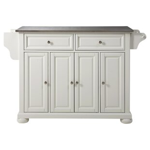 Pottstown Kitchen Island with Stainless Steel Top ByDarby Home Co