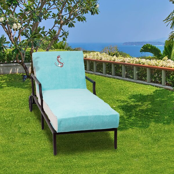 Anchor Embroidered Standard Patio Chaise Lounge Cover by Breakwater Bay
