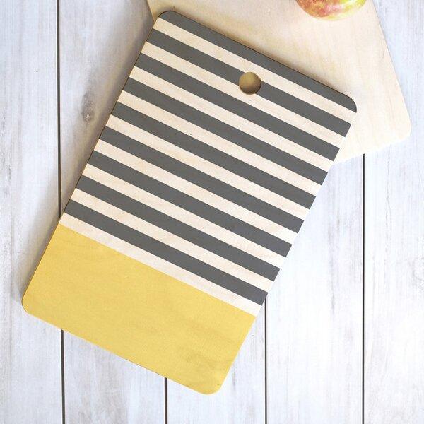Jonas Elegant Stripes Rectangle Cutting Board by Langley Street