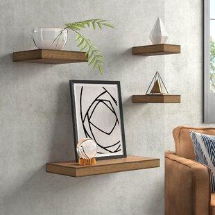 Foweler 4 Piece Floating Shelf Set
