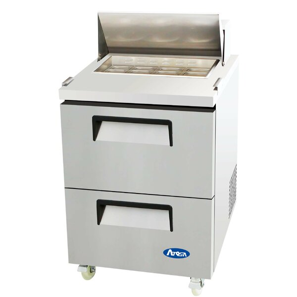 27 Refrigerated Two-Drawer Sandwich Prep Table by Atosa