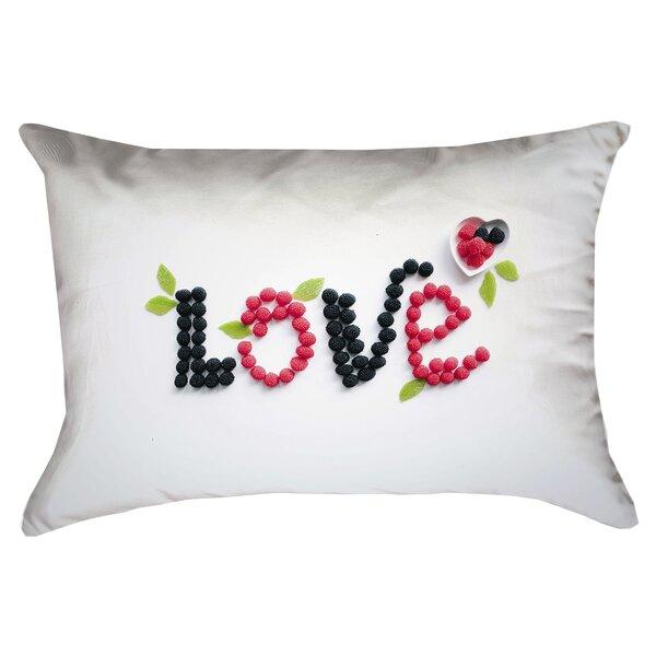 Buoi Love and Berries Outdoor Lumbar Pillow by Latitude Run